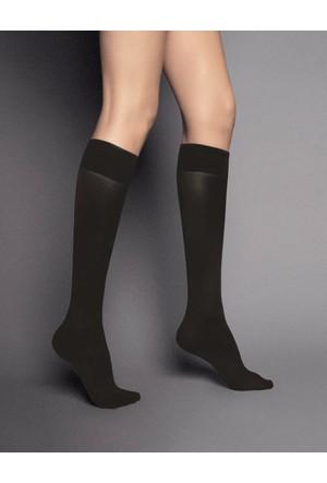 Veneziana 40 den Koyu Gri Dizaltı Çorap katrin