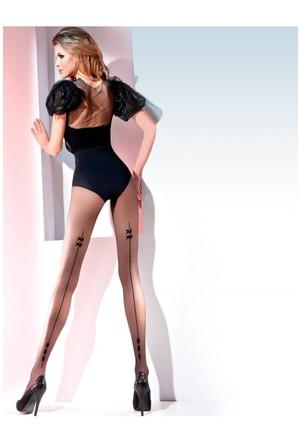 Gabriella Siyah Külotlu Çorap salma nero