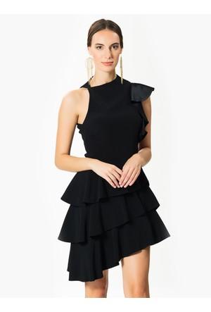 Roman Siyah Elbise