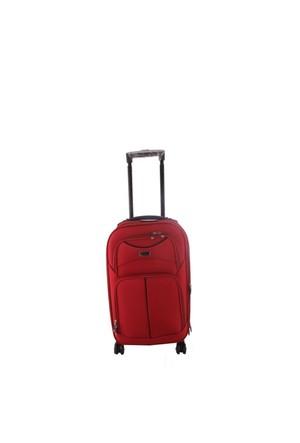 ÇÇS 095 Kırmızı 8 Tekerlekli Küçük Kumaş Valiz