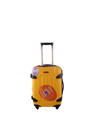 ÇÇS 5118 Kırılmaz Sarı Küçük Pvc Valiz