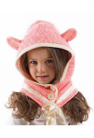 Denokids Pembe Başlıklı Kız Şapka