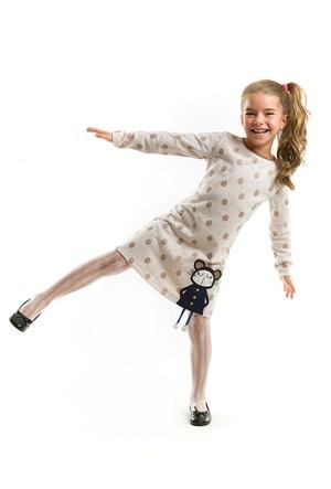 Mushi Lily Puanlı Kız Elbise