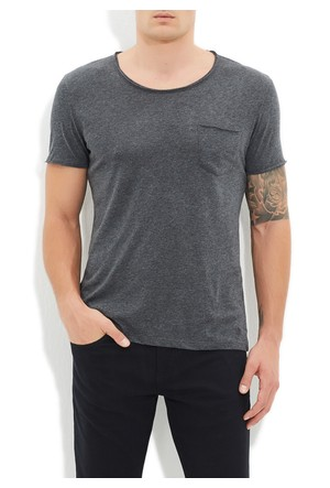 Mavi Füme Basic T-Shirt