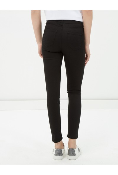 Ole Kadın Dar Paça Pantolon Siyah