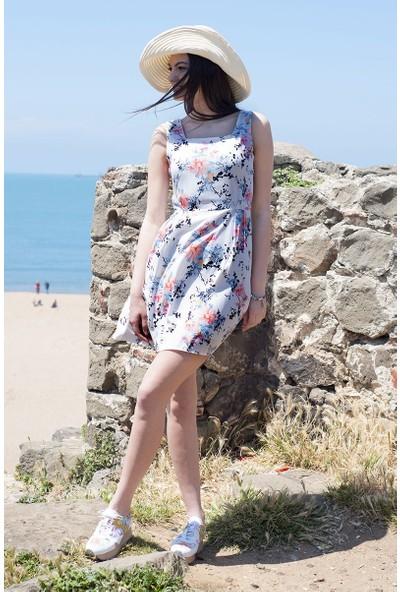 Sofistiqe Çiçekli Elbise