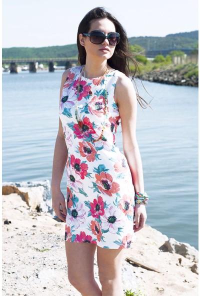 Sofistiqe Flower Elbise