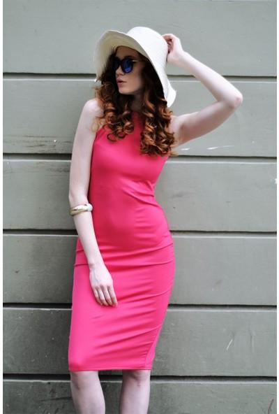 Sofistiqe Fuşya Elbise