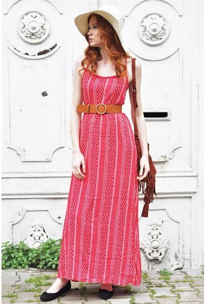 Sofistiqe Kırmızı Uzun Elbise