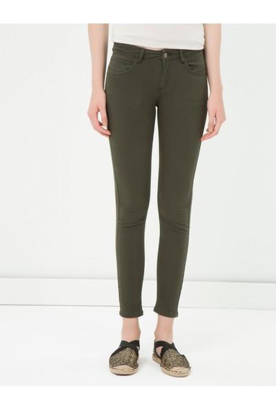 Ole Kadın Skinny Pantolon Haki