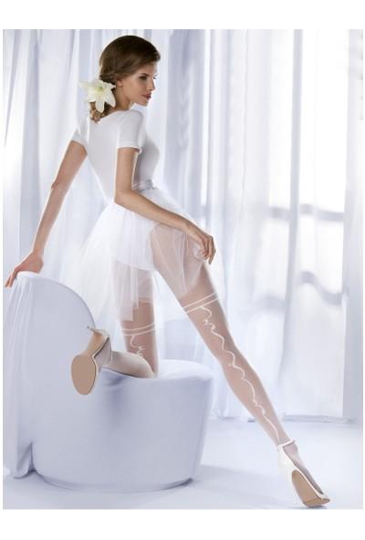 Gabriella Beyaz Külotlu Çorap charme04 bianco