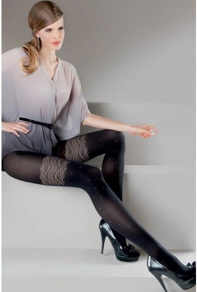 Gabriella Siyah Külotlu Çorap dafne nero