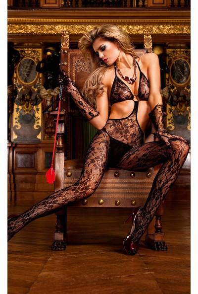 Miss Lancy Desenli Vücut Çorabı Bodystocking mly391