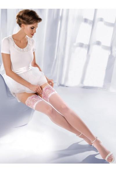 Gabriella Beyaz Jartiyer Çorabı princessa04 bianco