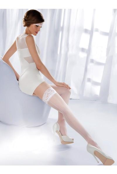 Gabriella Beyaz Jartiyer Çorabı princessa05 bianco