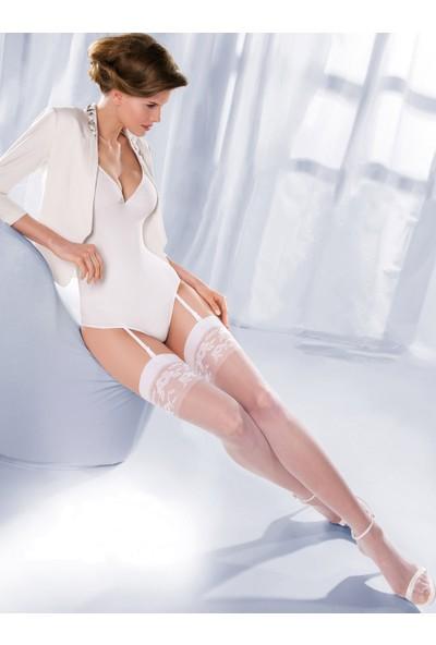 Gabriella Beyaz Jartiyer Çorabı princessa10 bianco