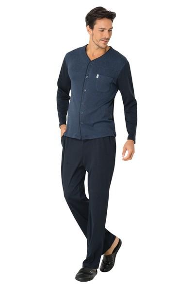 Mecit Jakarlı Önden Açık Pijama Takımı