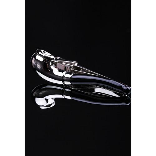 La Pescara Pipo Siyah-Gümüş Kravat İğnesi Kıy15