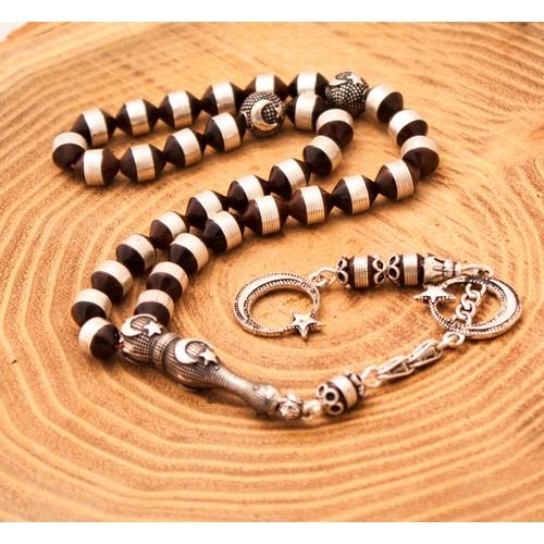 Rachon Gümüş Kakma Kuka , Gümüş Püskül Tesbih