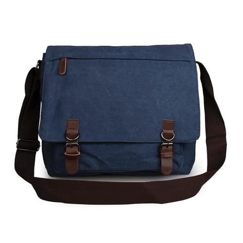 Lefkose Model Kanvas Askılı Çanta Mavi