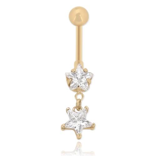 Chavin Yıldız Taşlı Göbek Piercing da63