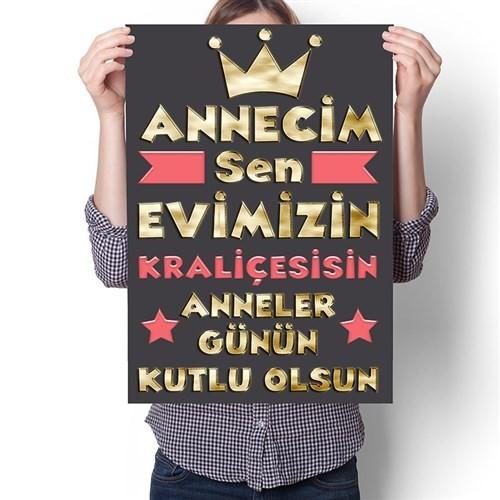 BuldumBuldum Anneciğim Sen Evimizin Kraliçesisin - Poster - Parlak Selefonlu
