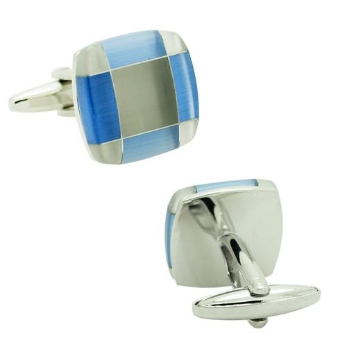 Chavin Mavi Sedef Çelik Kol Düğmesi cn82