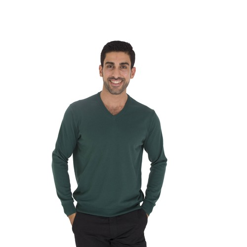 TheDON V Yaka Yeşil Renk Erkek Triko