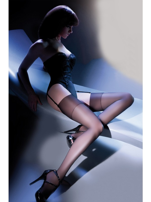 Gabriella 15 den Siyah Jartiyer Çorabı CALZE CHER NERO