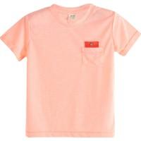 Soobe Pop Boys Cep Detaylı Kısa Kol T-Shirt Neon Somon 6 Yaş