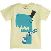 Soobe Pop Boys Şapkalı Canavar Kısa Kol T-Shirt Açık Sarı 18 - 24 Ay