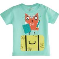 Soobe Pop Boys Tatilci Kuş Kısa Kol T-Shirt Aqua 12 - 15 Ay