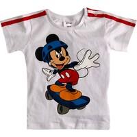 Soobe Lisanslı Disney Mickey Mouse T-Shirt Kısa Kol Beyaz 9 - 12 Ay