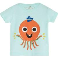 Soobe Pop Boys Şapkalı Ahtapot Kısa Kol T-Shirt Buz 12 - 15 Ay