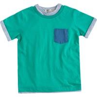 Soobe Pop Boys Cep Detaylı Kısa Kol T-Shirt Çim 7 Yaş