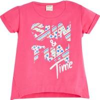 Soobe Geometric Sunshine Kısa Kol T-Shirt Fuşya 3 Yaş