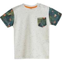 Soobe Aloha Guys Cep Detaylı Kısa Kol T-Shirt Gri 6 Yaş