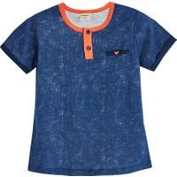 Soobe Fish Gone Kısa Kol T-Shirt Mavi 4 Yaş