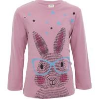 Soobe Pop Girls Gözlüklü Tavşan Uzun Kol T-Shirt 12 Yaş