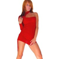 Merry See Kırmızı Dans Elbisesi Fantazi Giyim