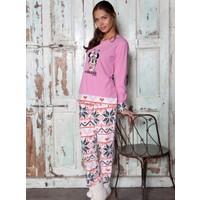 Ayyıldız 58945 Pembe Renk Minnie Desenli Kadın Pijama Takımı