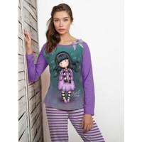 Ayyıldız 50012 Mor Renk Kız Desenli Kadın Pijama Takımı