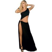 Terry Pau Tp100916 Derin Yırtmaçlı Uzun Elbise