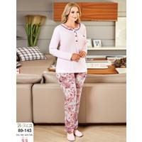 Flz Bayan Büyük Beden Battal Pijama Takım 89-143