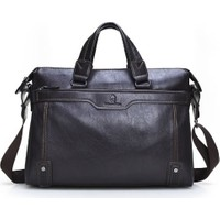 Dıoulaorentou Moda 2016 Men Leather Vintage Briefcase Kahve