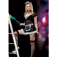 Cix Moda Erotica Seksi Hizmetçi Kız Kostümü