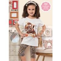 Özkan 40502 Kaplan Desenli Kız Çocuk Taytlı Takım