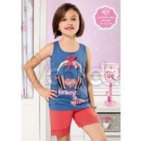 Özkan 40774 Kız Çocuk Şortlu Takım - Mavi