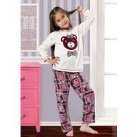 Özkan 40702 Kız Çocuk Pijama Takımı - Ekru