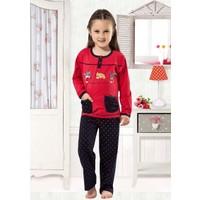 Özkan 40691 Kız Çocuk Pijama Takımı - Kırmızı